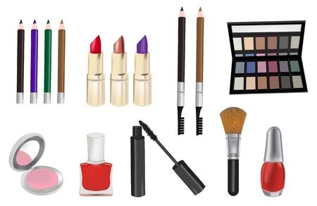 Make up and cosmetics vector illustration  Ilustração