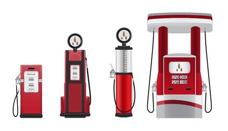 bombas de gasolina ilustración vectorial Ilustración de vector