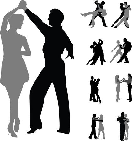 ダンス カップル シルエット ベクトル分離