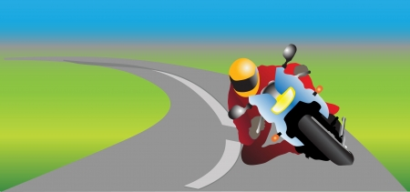motorcycle driver color vector illustration Vector