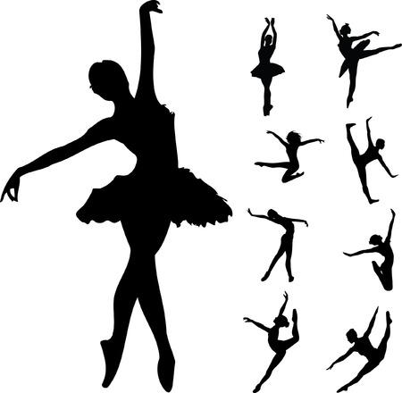 ballett: Satz von Ballett-T�nzer Illustration