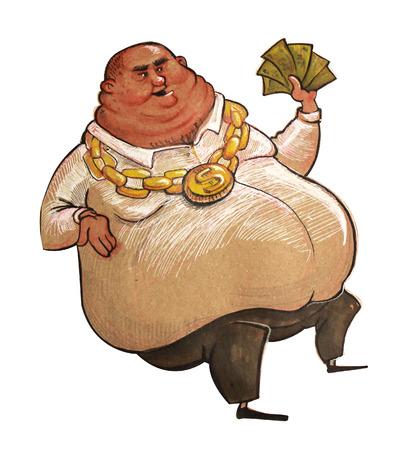 rich man: Ilustraci�n del hombre rico