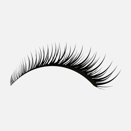 eyelashes icon on a gray background