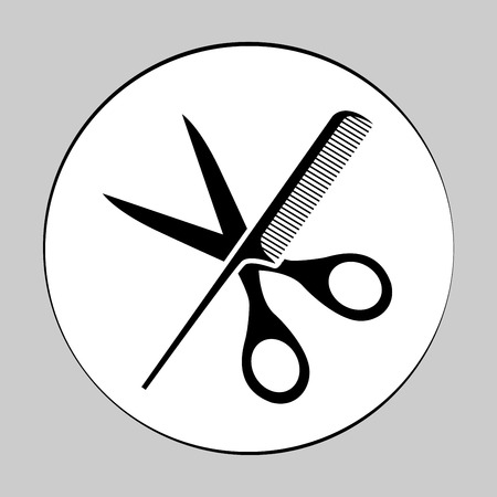 male grooming: Comb and scissors