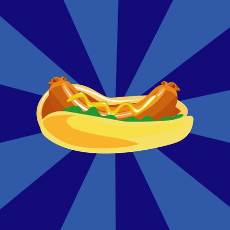 Vector Hot-Dog illustration Illustration