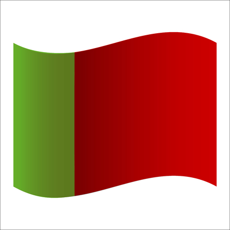 Flag of Portugal. Vector. Accurate dimensions, element proportions and colors.