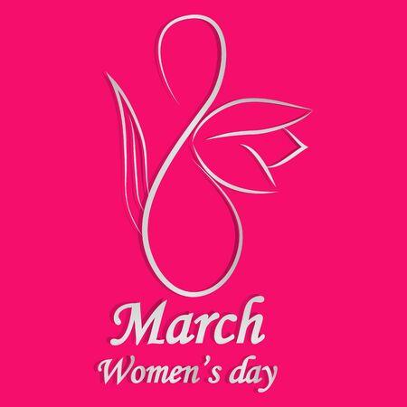 happy womens day design, vector illustration graphic