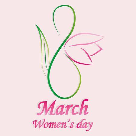 womens day design, vector illustration Illustration