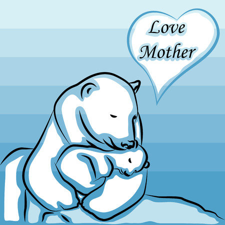 Vintage Happy Motherss Day bear
