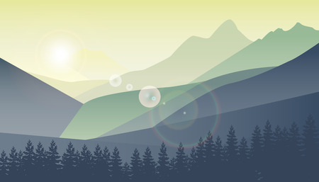 Berglandschaft, Natur Hintergrund,