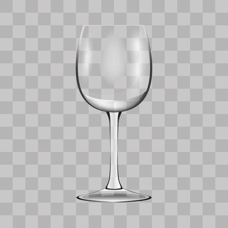 Wine glass. Transparent vector illustration. Illustration