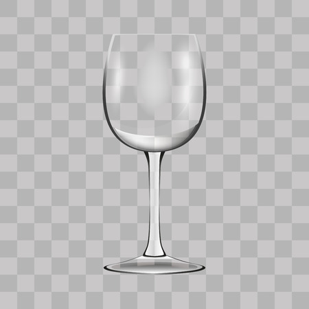 Wine glass. Transparent vector illustration. Çizim