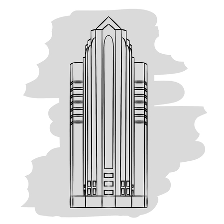 real estate house: office building icon