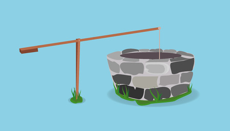 Stone And Wood Water Well.