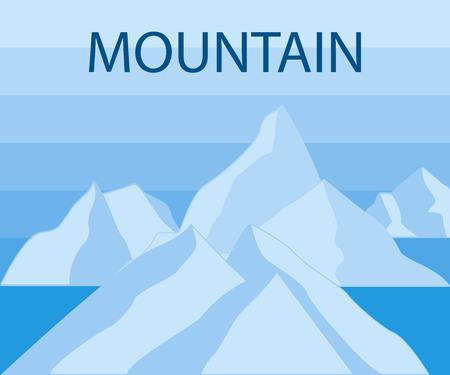 winter range: Mountain Icons Set on White Background. Vector illustration