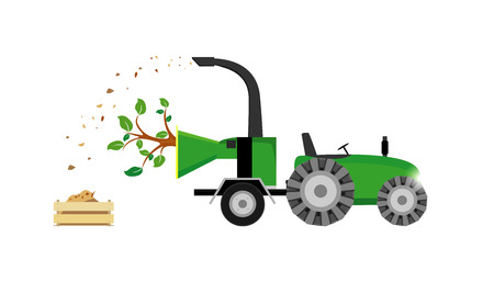 tree removal service: Wood chipper vector file