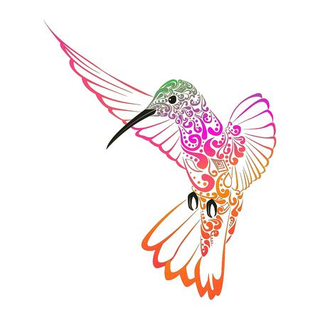 Bordado de colibríes. Pájaro bordado. Vector elemento decorativo para bordado, parches y pegatinas Vectores