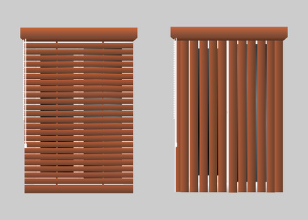 Vector set of windows with rolling shutters Illustration