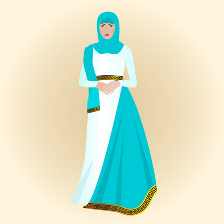 beautiful arabian pregnant young woman Illustration