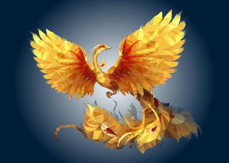 Polygon Art Phoenix Иллюстрация