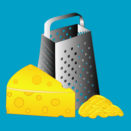 cheese grater: Cheese grater grater isolated, grater vector, cheese Illustration