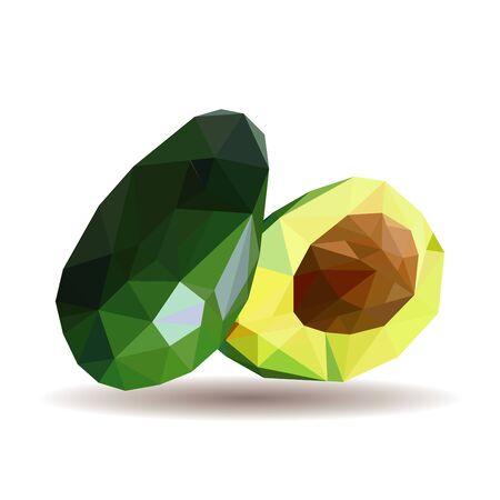 Polygonal illustration of avocado Stockfoto