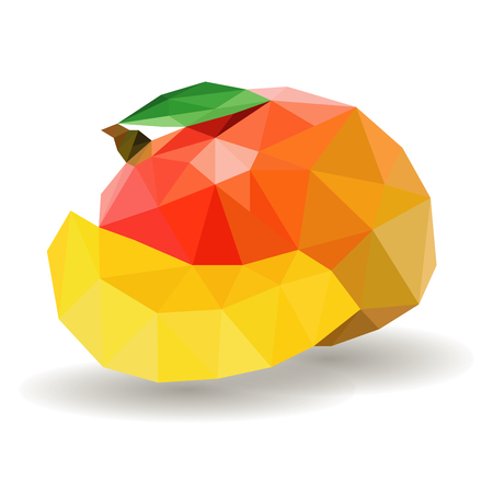 Polygonal Mango Illustration