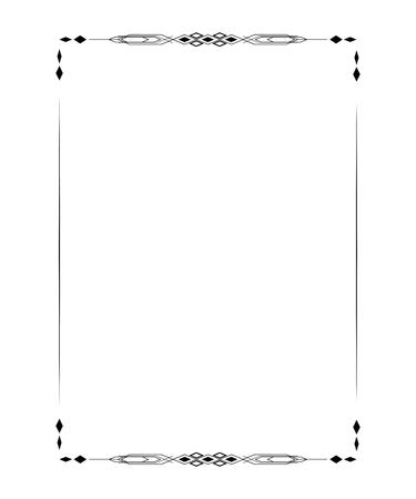 simple frame: Vintage A4 size frame. Border divider for your design menu website certificate and other documents