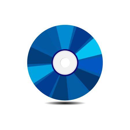 Blank rainbow DVD-CD vector Illustration
