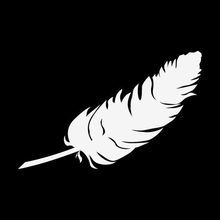 feather and ink icon Ilustração