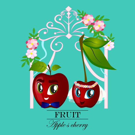 Vector fruit and berry banners. Design for juice, tea, ice cream, jam, natural cosmetics, sweets and pastries filled with fruit, dessert menu, health care products. With place for text