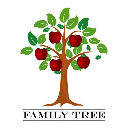 A vector illustration of Family Tree Template Иллюстрация