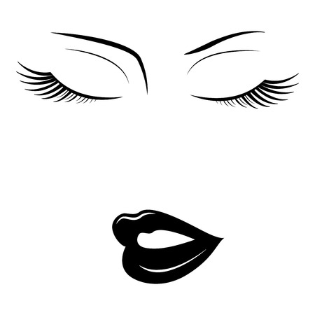 Face of woman with closed eyes