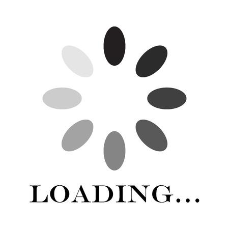 Circular loading sign, isolated on white background, vector illustration. Illustration