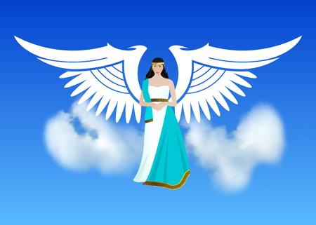 Arcángel Miguel, un ángel o arcángel con una espada flameante, defendiendo la Tierra, sosteniendo el planeta en sus manos.