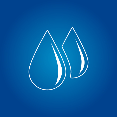 A water drop icon illustration.