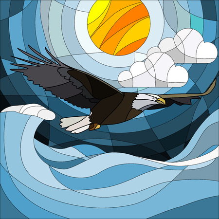 Eagle in a stained glass style Illustration