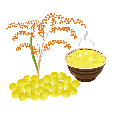 Illustration of childrens porridge. Ilustração