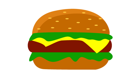 burger juicy and fresh with cheese vector Illustration