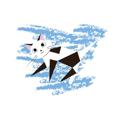 Cute cats print, design, vector, cute, slogan, art, character, drawing icon.