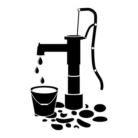 Water pump well icon vector on white background.