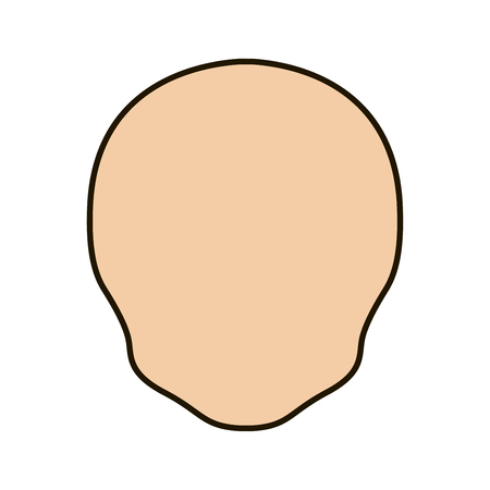face of a different shape icon with a black stroke vector.