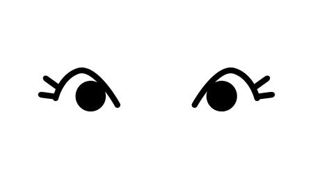 eye cartoon icon cute on white background.