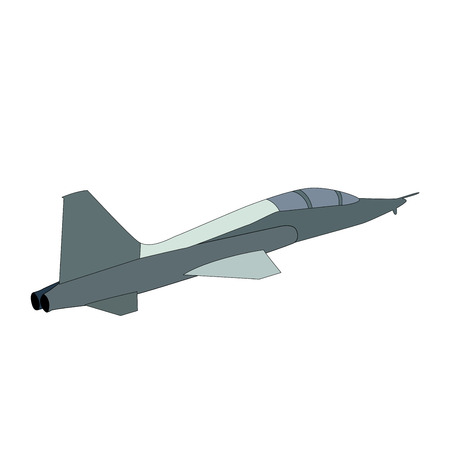 aircraft fighter vector icon on white background. Stock Illustratie