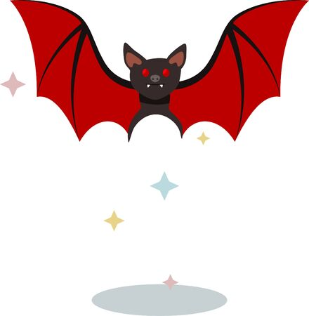 The summer mouse Dracula at the time of transformation  イラスト・ベクター素材