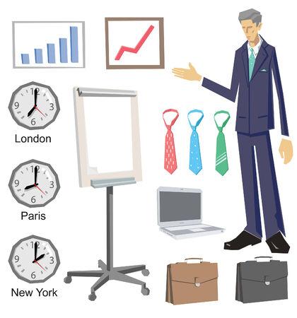 A set of business vector design elements.