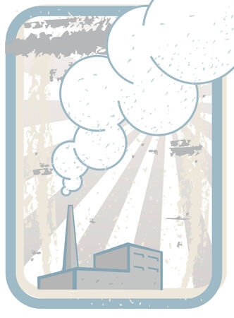 Smoking Factory Chimney  Illustration