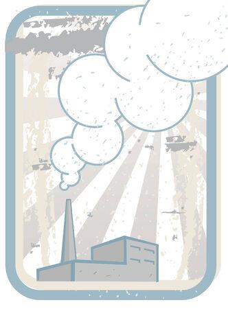 Smoking Factory Chimney  Illustration