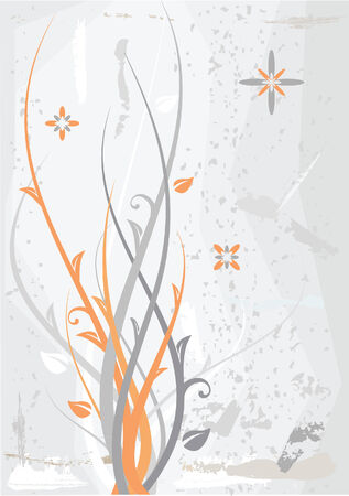Grungy Floral Background Stock Vector - 3066505