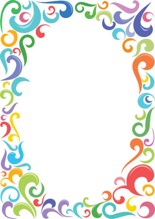 Colorful oval frame with space for text. Illustration